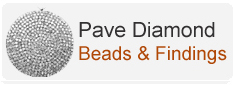 Pave Diamond Beads & Findings