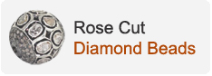 Rose Cut Diamond Beads