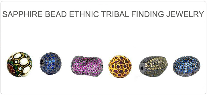 Gold diamond pave beads